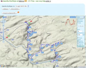 GPSIES mapa Trasy