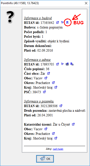 JOSM pointinfo - nahlášení chyby